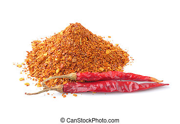 Cayenne pepper on white background