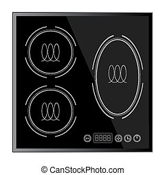 Kitchen - Induction hob, household appliances - Kitchen -...