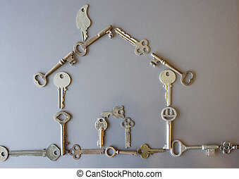 house - a home made with old keys