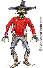 gunslinger zombie - a decaying old west cowboy zombie...