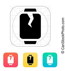 Broken smart watches icon. Vector illustration.