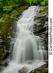 Slow Shutterspeed of Crabtree Falls in Virginia - A slow...