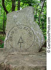 Start of the Appalachian Trail Marker