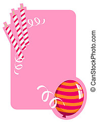 Birthday Card - Background illustration with balloon and...