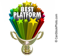 Best Platform Trophy Award Prize Great System Process...