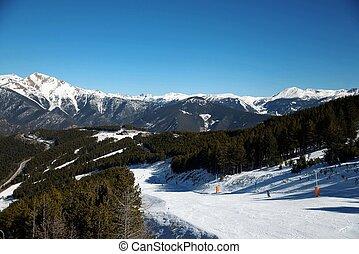 snow landscape - Snow landscape in Vallnord, ski station in...