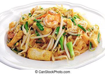 Thai style noodles , Pad thai