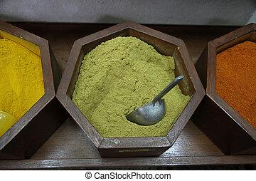 Cumin dust in a souk