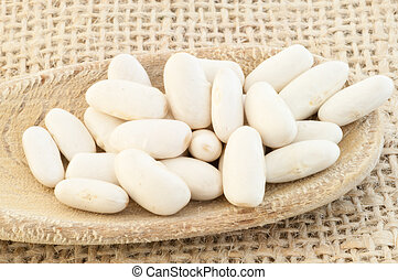 cannellini beans - natural background of cannellini beans