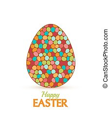 Easter - Retro background with Easter eggs, vector...