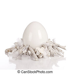 White ceramic egg