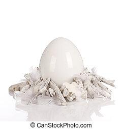 White ceramic egg