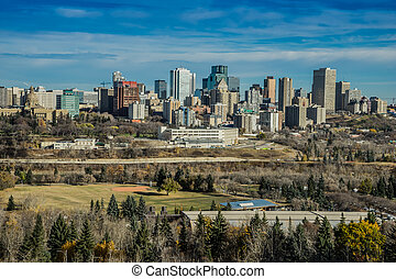 City of Edmonton, October 2014 - View from Saskatchewan...