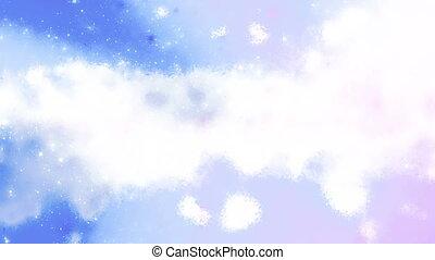 Blue and White Cosmic Cloud Loop