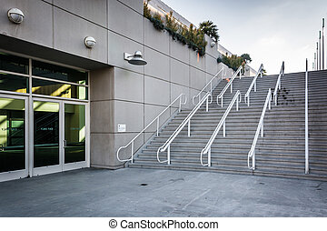 Staircase at the Convention Center in San Diego, California.