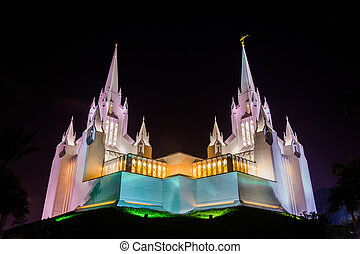 The Church of Jesus Christ of Latter-Day Saints Temple at...