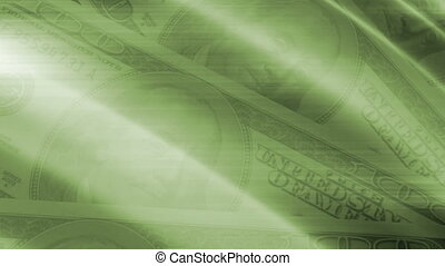 Green Money Abstract Loop - Animated Green Money Abstract...