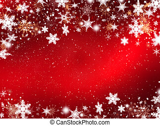 Snowflakes and stars - Abstract background of snowflakes and...