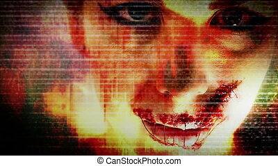 Horror Grunge Female Model - Abstract Horror Grunge Female...