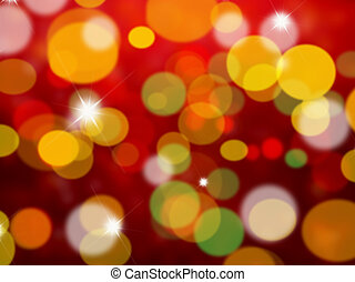 Christmas lights - Background of blurred lights