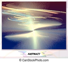 dawn, abstract background, vector illustration