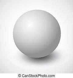 Blank grey vector sphere