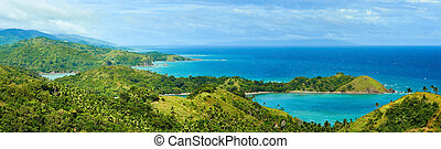 Beautiful panoramic views of the coast in the beautiful...