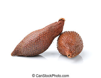 Salak snake fruit isolated on white background