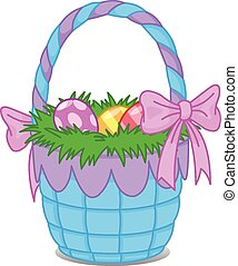 Easter basket - Illustration of Easter basket with eggs