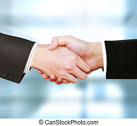 business men shaking hands - the business men shaking hands