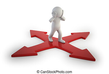 3d small people - intersection - difficulty choosing the...