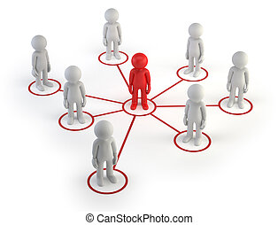 3d small people - partner network - The little man formed an...