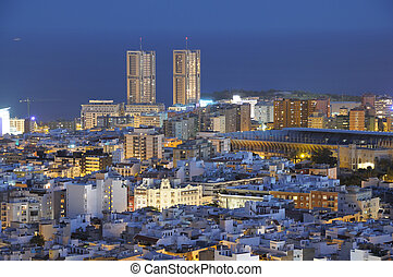 Santa Cruz de Tenerife at dusk. Canary Islands, Spain