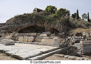 Remains of Lesser Propylaia, ancient Eleusis