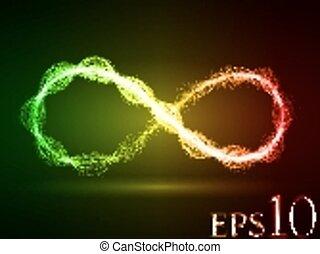 magic energy loop effect - energy waves loop (red,green and...
