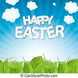 Happy Easter Spring Background Vector Illustration EPS10