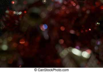 Red Background with Bokeh