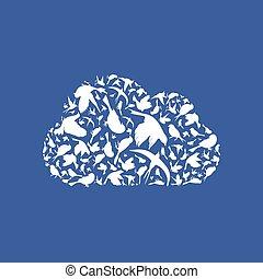 Cloud a bird