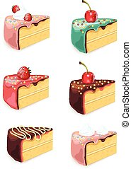 Vector cake set illustration