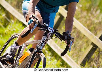 cycling - triathlon cyclist racing