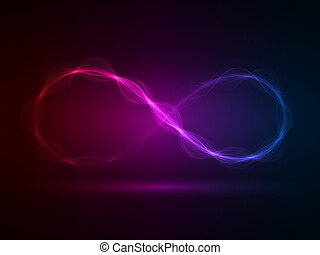 magic energy loop effect - energy waves loop red,violet and...