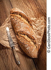 Fresh loaf of bread.