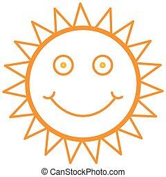 Smiley, sol,
