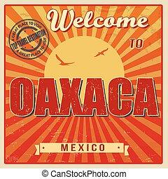 Oaxaca, Mexico vintage poster