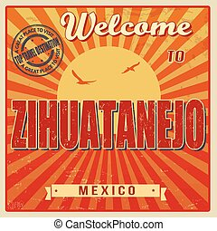 Zihuatanejo, Mexico vintage poster