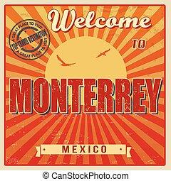 Monterrey, Mexico vintage poster