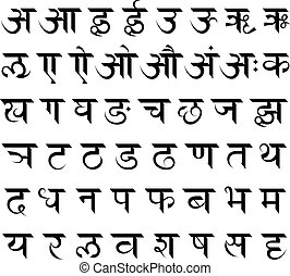 Sanscrit alphabet set - Indian Sanskrit complete alphabet...