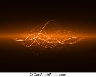 smooth waves - smooth energy waves orange colored, wide...