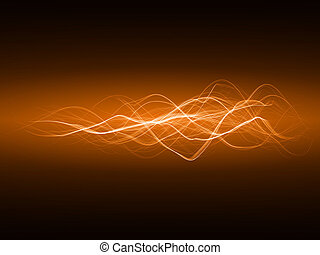 smooth energy waves orange colored, wide waves version