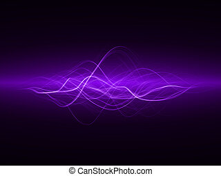 smooth waves - smooth energy waves violet colored, wide...